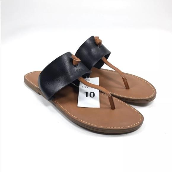 ab69ebc7d163 Merona Malia Thong Sandals Brown Faux leather 10